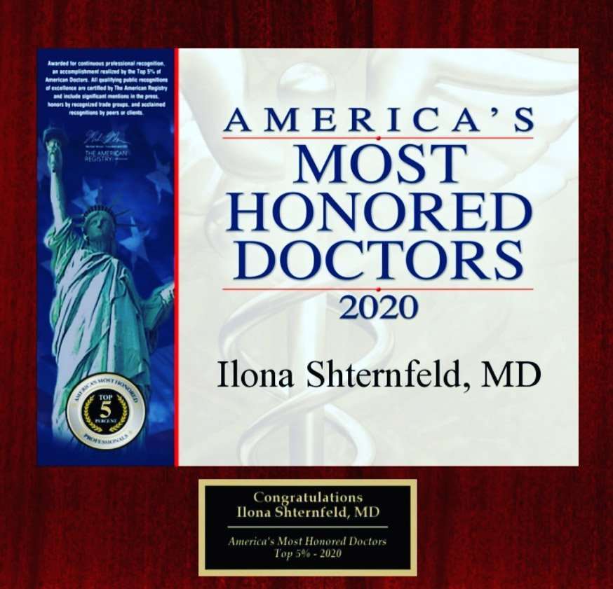 Dr. Ilona Shternfeld - America's Most Honored Doctors 2020