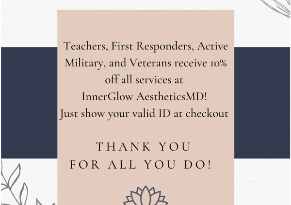 First Responders, Teachers, Active Military, Veterans Get 10% Off